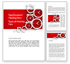 Business Concepts: Clock Faces Word Template #13911