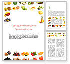 Food & Beverage: Fruit Mix Word Template #13917