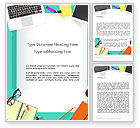 Business: Office Desktop Workspace Word Template #13928