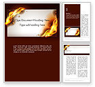Abstract/Textures: Burning Paper Word Template #13934