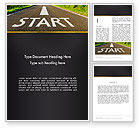 Business Concepts: The Way Forward Word Template #13937