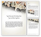 Holiday/Special Occasion: Shells and Starfish Word Template #13939