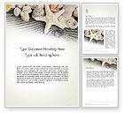 Holiday/Special Occasion: Plantilla de Word - conchas y estrellas de mar #13939