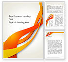 Abstract/Textures: Orange Stream Waves Word Template #13941
