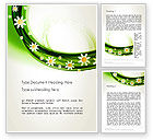 Nature & Environment: Spring Flowers Word Template #13942