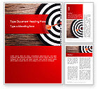Business Concepts: Dart Hitting Target Word Template #13947