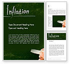Financial/Accounting: Inflation Lettering Word Template #13956