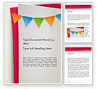 Holiday/Special Occasion: Paper Birthday Banner Word Template #13958