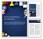 Careers/Industry: Flat Design Game Items Word Template #13967