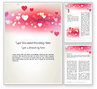 Holiday/Special Occasion: Pink Valentines Day Word Template #13973