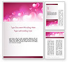 Holiday/Special Occasion: Fantasy Hearts Word Template #13977