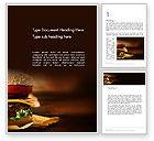 Food & Beverage: Gourmet Burger Word Template #13981