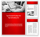 Financial/Accounting: Analyzing Financial Statistics Word Template #13991