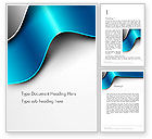 Abstract/Textures: Metal Waves Word Template #14005