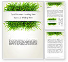 Nature & Environment: Grass Patch Word Template #14006