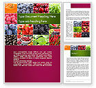 Agriculture and Animals: Collage with Different Fruits Word Template #14012