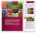 Agriculture and Animals: Collage mit verschiedenen früchten Word Vorlage #14012
