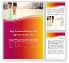 Sports: Legs Of Jogging Woman Word Template #14015