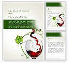 Food & Beverage: Rotweinglas Word Vorlage #14021