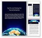 Global: Australia on Earth Word Template #14030