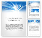 Holiday/Special Occasion: Blue Heart Background Word Template #14037