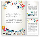 Business: Kickoff Meeting Top View Word Template #14043