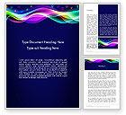 Abstract/Textures: Modello Word - Onda colorato con icone di app #14044