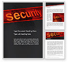 Technology, Science & Computers: Biometrics Security System Word Template #14046