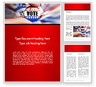 America: Vote Badge Word Template #14051