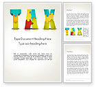 Financial/Accounting: Tax Puzzle Word Template #14058