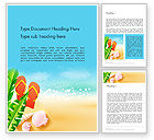Holiday/Special Occasion: Sunny Beach Word Template #14059