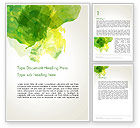 Abstract/Textures: Green Vegetable Leaf Abstract Word Template #14060