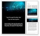 Technology, Science & Computers: Futuristic Flowchart Abstract Word Template #14066