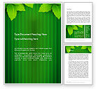 Nature & Environment: Green Leaf Theme Word Template #14069