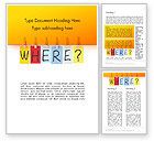 Education & Training: One Key Question Word Template #14072