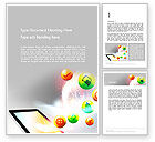 Careers/Industry: Mobile Application Design Word Template #14076