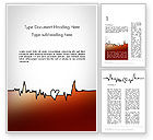 Holiday/Special Occasion: Love Heartbeat Word Template #14094