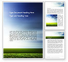 Nature & Environment: Grass and Sky Word Template #14101