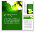 Nature & Environment: Translucent Green Leaf Word Template #14108
