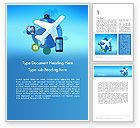 Careers/Industry: Modern Online Travel Word Template #14118