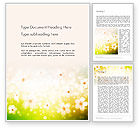 Nature & Environment: Grass and Flowers Word Template #14126