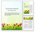 Nature & Environment: Flower Field Word Template #14133