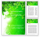 Art & Entertainment: Watercolor Spot with Green Leaves Word Template #14140