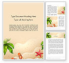 Holiday/Special Occasion: Happy Summer Holidays Word Template #14142