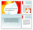 Abstract/Textures: Paper Leaf on Orange Background Word Template #14148