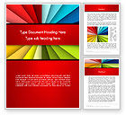 Art & Entertainment: Colored Ribbons Converging to One Point Word Template #14157