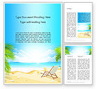 Careers/Industry: Sunny Beach Vacation Word Template #14168