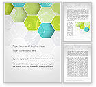 Abstract/Textures: Hexagons with Floral Background Word Template #14175