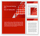Abstract/Textures: Red Tiled Squares Abstract Word Template #14196