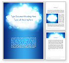 Abstract/Textures: Sky Light Spots Abstract Word Template #14205